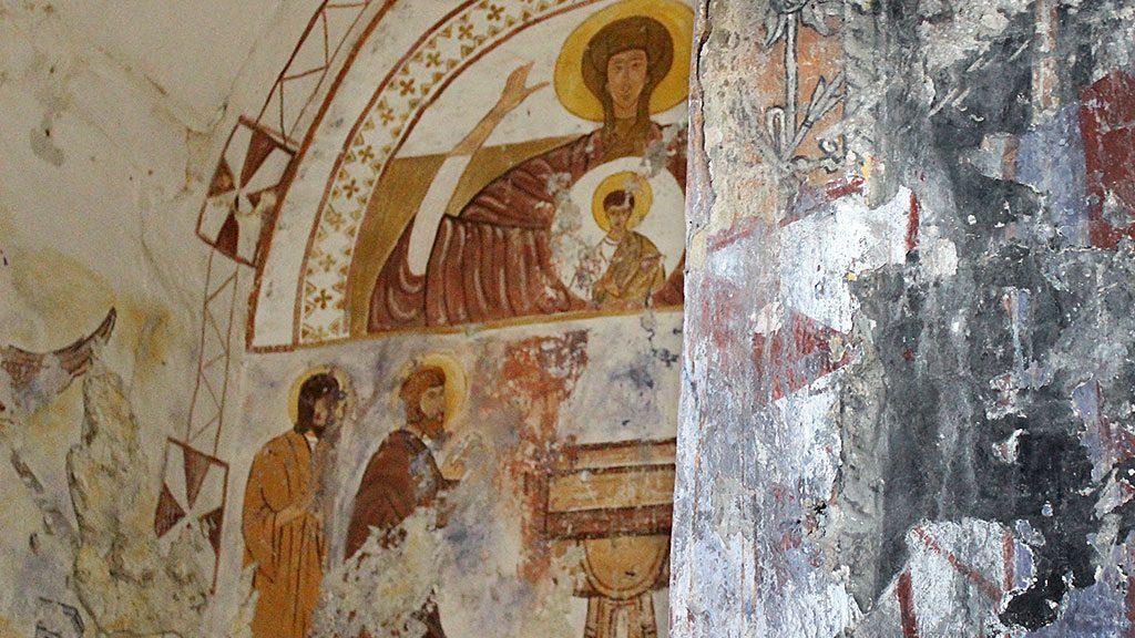 Pinturas (falsas) de la iglesia de Jánovas