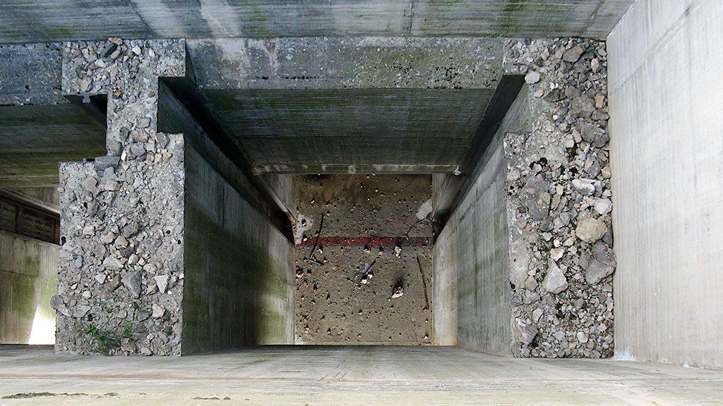 Restos del conato de inicio de la construcción del Pantano de Jánovas