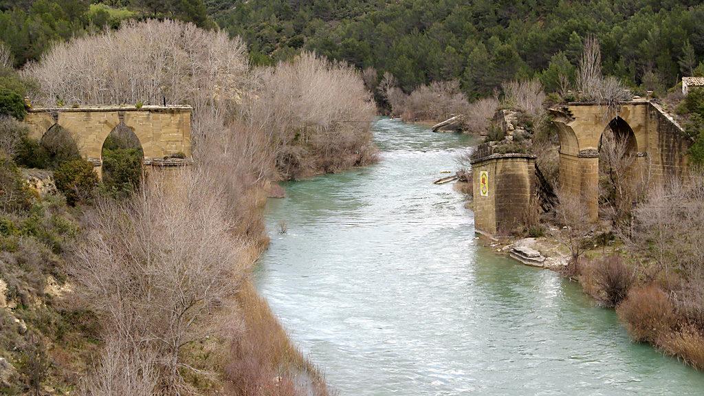 Río Gállego desde el puente de Murillo