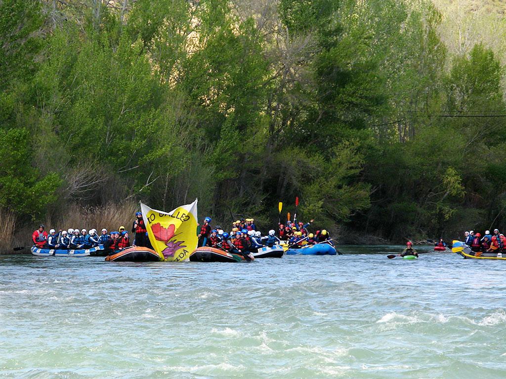 Rafting y reivindicación en el Gállego