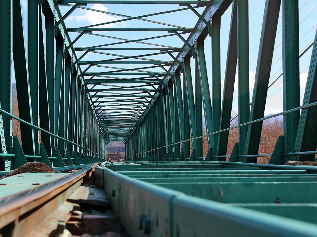 Puente ferroviario del embalse de La Peña